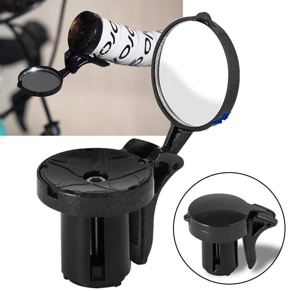 Espejo retrovisor Para Bicicleta, Accesorios Para manillar, ajustable, con tapón de manillar