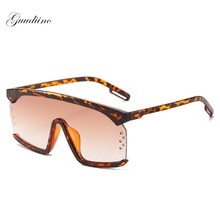 Oversize One Piece Sunglasses Women Brand Luxury Rivet Gradient Sun Glasses Driving Goggle Flat Top