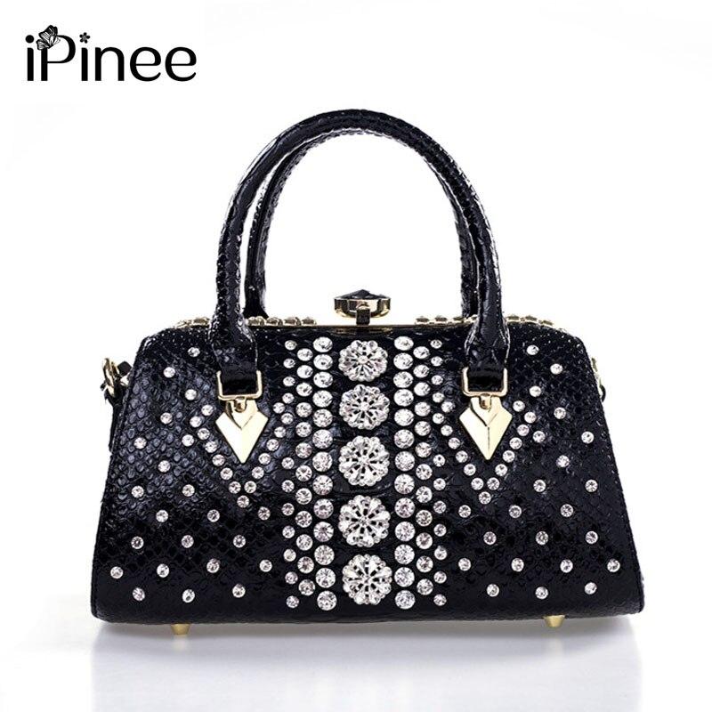 IPinee bolsa de Luxo para As Mulheres de Diamante do Desenhador das Mulheres Saco Das Senhoras de Couro de Alta Qualidade Tote Bolsa Feminina Crossbody Sac