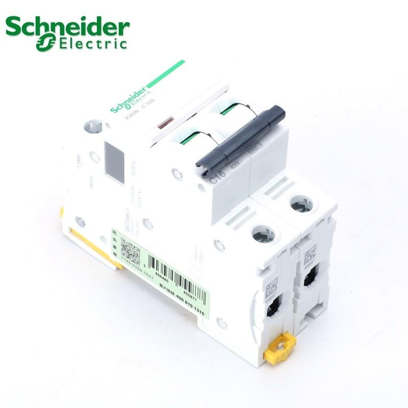 Шнайдер Электрический мини-автомат защити цепи iC65N Американская классификация проводов 2р C Тип 1A 2A 4A 6A 10A 16A 20A 25A 32A 40A 50A 63A выключатель MCB