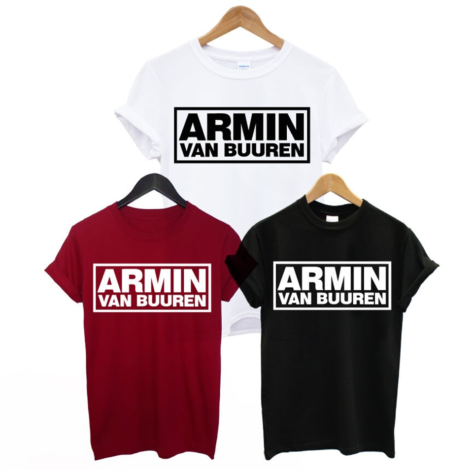ARMIN VAN BUUREN, camiseta de hombre con estampado de tranc, ASOT HOUSE MUSIC IBIZA, RAVE DJ, camisetas con envío gratis