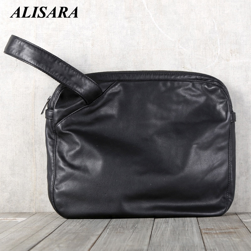 Alisara الرجال عادية ساتشل الطبقة الأولى جلد البقر عالية الجودة الذكور حقيبة صغيرة حقيبة رسول الكتف Crossbody حقيبة اليد