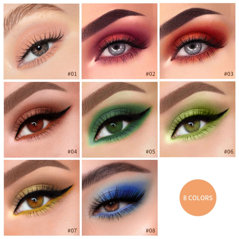 Qibest 8 cor sombra de olho líquido fosco natural aveludado suave à prova deyeágua sombra beleza compõem cosméticos tslm1