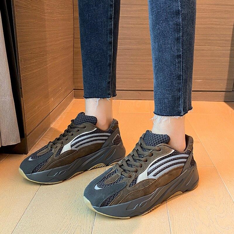 Platform Women Sneakers Fashion Vulcanized Shoes 2021 Autumn High Quality Comfortable Casual  Runnin