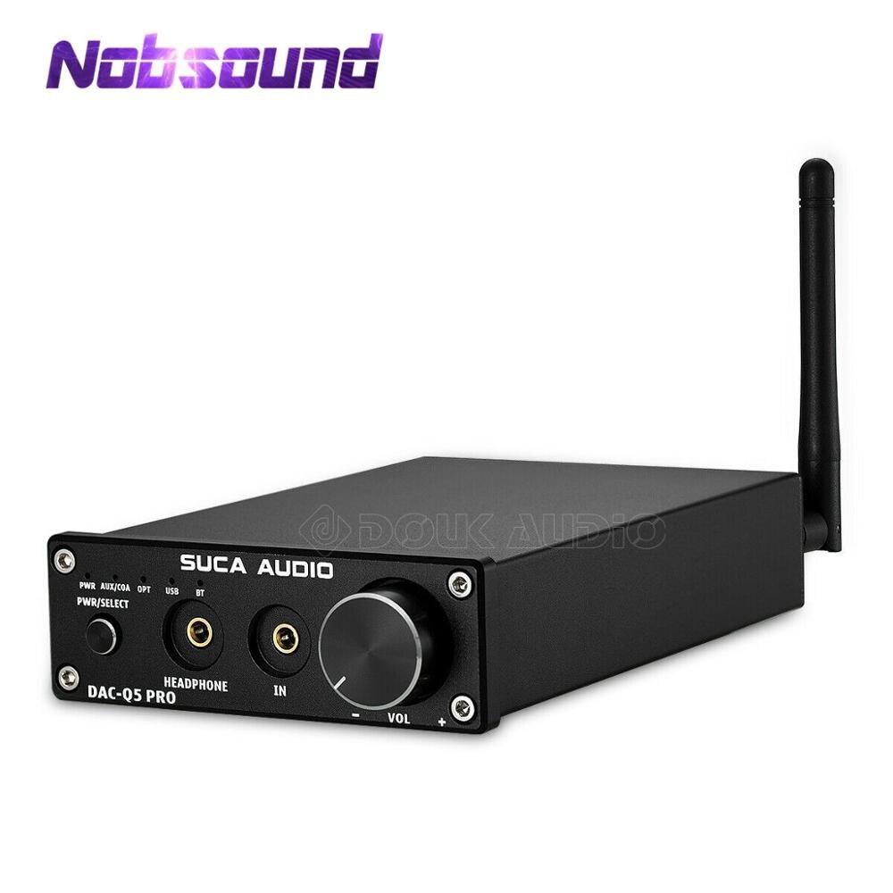 Nobsound-جهاز فك تشفير الصوت الصغير بتقنية Bluetooth 5.0 ، USB ، DAC ، مكبر صوت ستيريو HiFi ، بصري AUX ، أسود/فضي