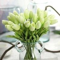 Bouquet de fleurs artificielles tulipe en Silicone  nouveau  toucher reel  fleurs decoratives de luxe pour la maison  decoration de salon  fausses plantes