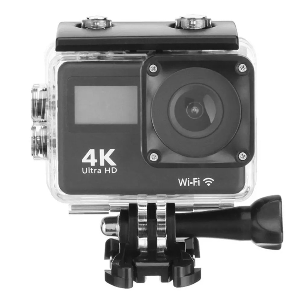 12MP Helmet Action Camera 4K Ultra HD Dual LCD Screen WiFi 170D Go Waterproof Pro DV Sport Video Camera With 2.4G Remote Control