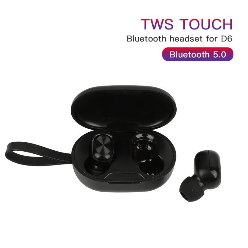 Novo d6 fone de ouvido bluetooth macaron tws toque binaural sem fio bluetooth 5.0 fone de ouvido usar confortável chamada binaural fone de ouvido