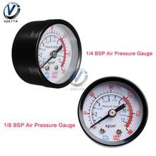 Medidor de presión de aire de barra 13mm 1/4 1/8 rosca BSP 0-180 PSI 0-12 Escala doble de manómetro para compresor de aire diámetro de hierro de aproximadamente 52mm