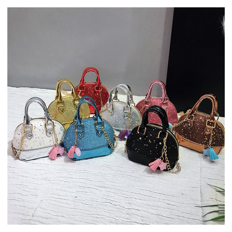 Girls Kids Children Mini Purses and Shell Handbags Leather Crossbody Bags for Women Small Wallet Party Hand bag Girl Purse