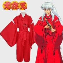 Anime Inuyasha Kikyō Jongen Meisje Cosplay Kostuum Halloween Grappig Cos Kimono Pak Pruik Wag Accessoire