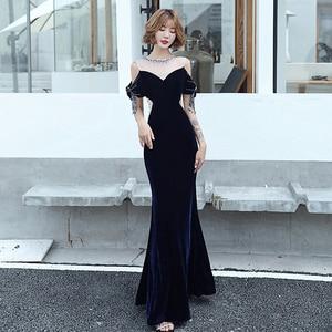 Evening Dresses Sleeveless O-Neck Simple Beads Bling Zipper Back Mermaid Floor-length Plus size Women Formal Party Dress C294