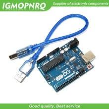 1 pièces UNO R3 Mega328P ATMEGA16U2 carte de développement avec câble USB UNO R3 (avec logo) pour Kit de démarrage bricolage