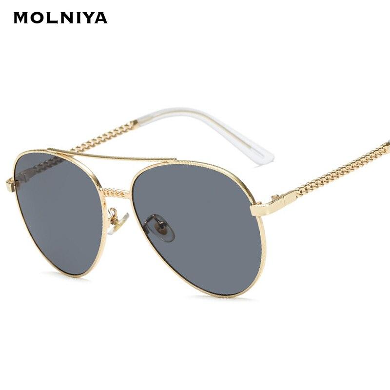 Clássico piloto óculos de sol moda masculina metal duplo feixe grande armação óculos de sol gradiente lente óculos quadros uv400