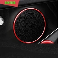 4pcs aluminum alloy amg car speaker decoration for mercedes benz 2015 to 2018 c glass c180 c200 c260 c300 and all glc glass