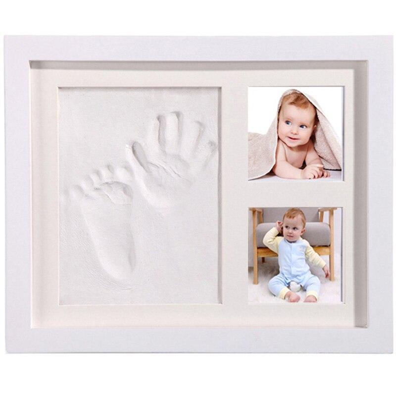 tinteiro impresso para bebe em pe moldura para foto com molde de argila lembranca