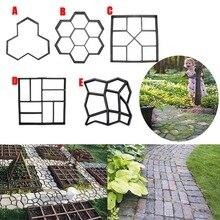 Nouveau jardin bricolage chemin en plastique   Modèle de chaussée béton pierre à pied, moule à ciment brique XSD88