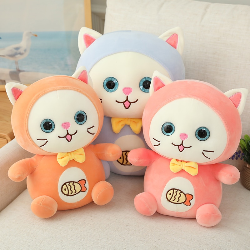 new arrive cat with fish pattern plush toy baby soft plush toys for children stuffed animal cat plush toy gift for kids birthday New Arrive Cat with Fish Pattern Plush Toy Baby Soft Plush Toys For Children Stuffed Animal Cat Plush Toy Gift for Kids Birthday