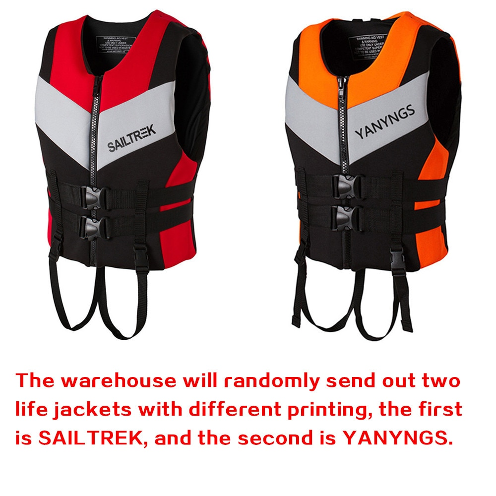 Каякинговый спасательный лодочный жилет для взрослых, неопреновый жилет, спасательный спорт, рыбалка, защитная лыжная куртка, водный жилет ...