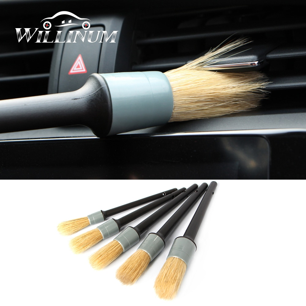 5 uds cepillo de limpieza del coche para BMW f10 f11 f30 f32 e60 e90 g30 herramientas de detalle automático productos escobilla práctica herramienta de limpieza del detalle automático