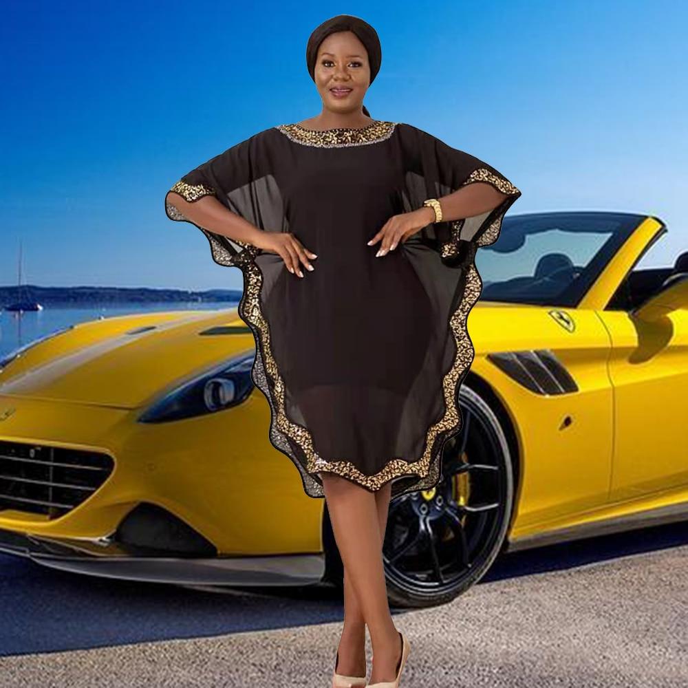 تصميم أفريقي العنق الذهب زين الرقبة المستديرة مسلم مجموعة سيدة حفلة الملابس الأوروبية عباية دبي الملابس الأمريكية