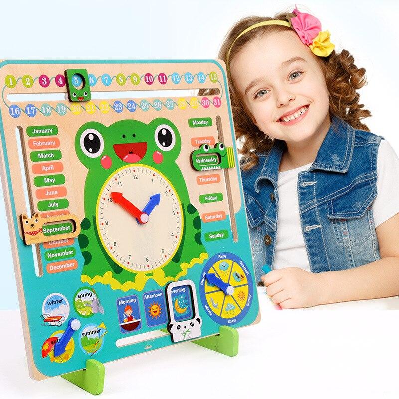Montessori 3D reloj de Madera Juguetes cognitivos niños educación juguetes de bebé juegos de 3 años 4 años 5 años chicos