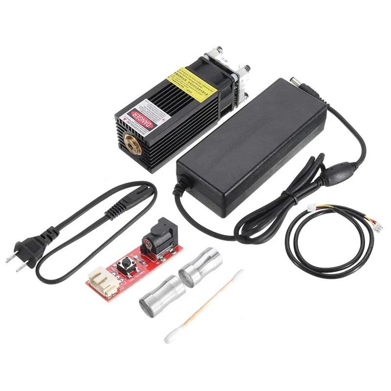 7000mW 445nm Blue Laser Module 7W Fixed Focus TTL&PWM Modulation w/ Heat Sink 2.54-3P+2P DIY Laser Engraver for EleksMaker