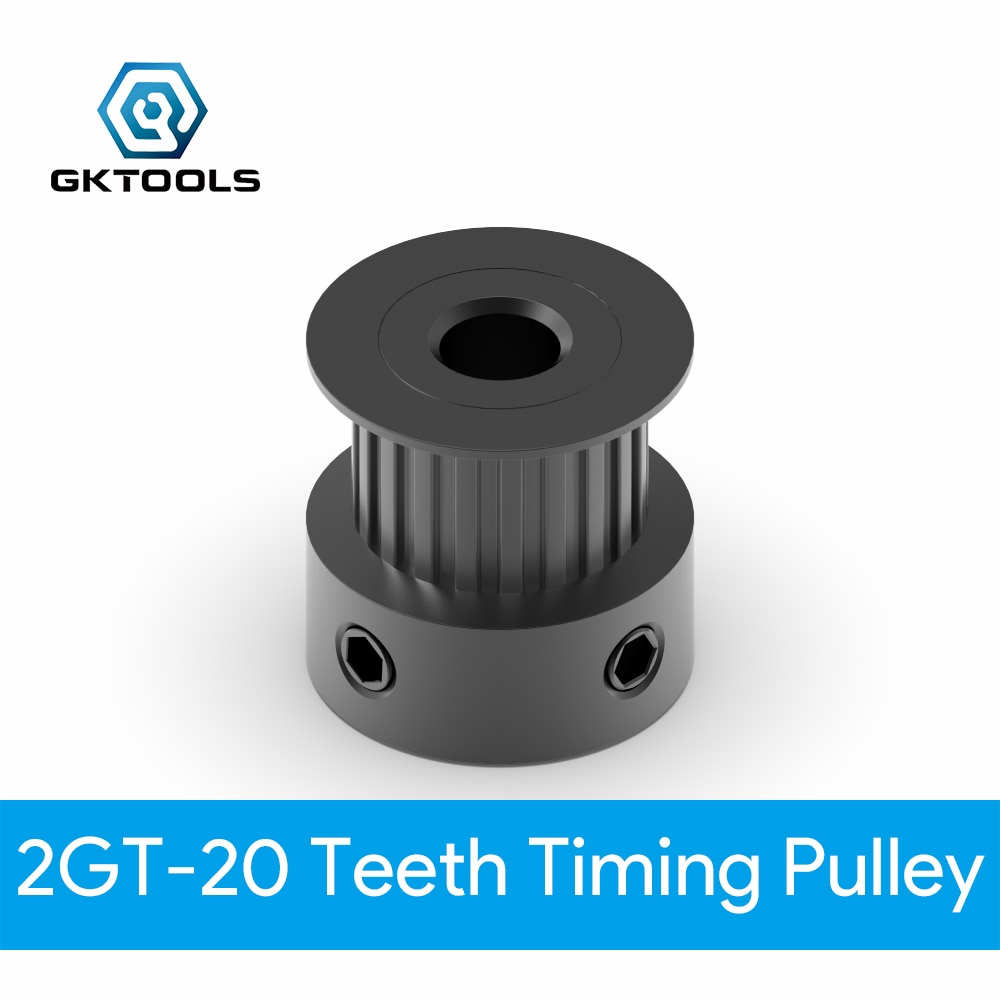 GKTOOLS GT2 Timing Pulley 20 teeth Bore 3.17mm 4mm 5mm 6mm 6.35mm 8mm for width 6mm 2GT Synchronous Belt Small backlash 20Teeth