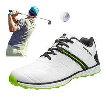 Chaussures de Golf classiques pour hommes, baskets étanches de marque, noires et blanches, nouvelle collection taille américaine, 6.5