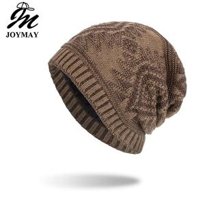 Joymay New arrival Winter Beanies Hat Unisex Classic Warm Soft Skullies Knitting Hats For Men Women WM136