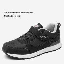 Chaussures de sport dhiver pour homme épaissir garder au chaud vieil homme dâge moyen et âgé hommes chaussures mocassins décontractés marche Schuhe