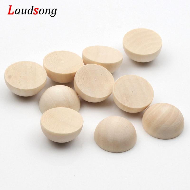15-40mm Natürliche-Farbe Halb Runde Flatback Nicht Porös Holz Perlen Unfinished Blei-frei Holz Perlen Für schmuck Machen DIY