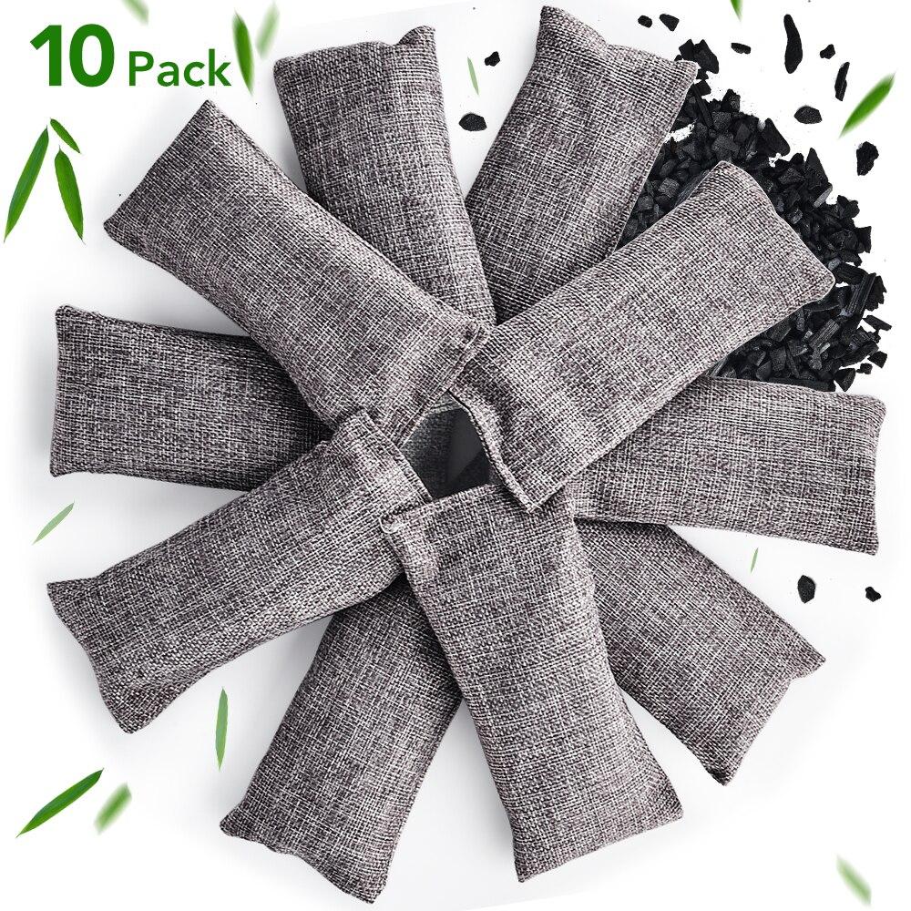 10Pcs Bamboo Charcoal Bag Natural Deodorant Bag Dehumidification Air Purifying Bags Car Home Air Freshener Purifier