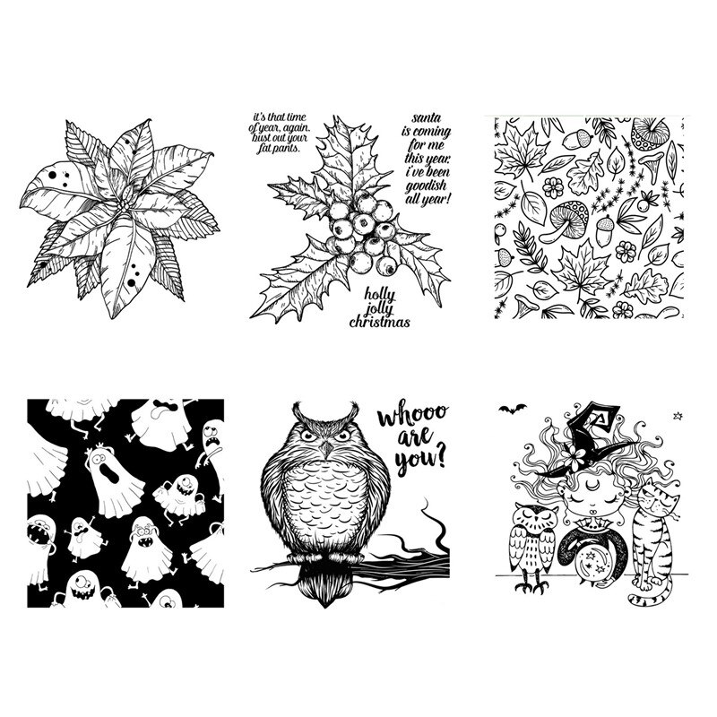 2021 DIY New Arrivals Clear Stamps Halloween For Scrapbooking Card Making Autumn HD Natural Stamp Account Craft