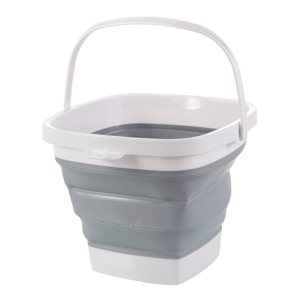 Cubo de plástico plegable, bañera cuadrada plegable, cubo de agua de pesca portátil, al aire libre, vj-drop