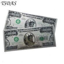 24k Gold Banknote US 1 Millionen Dollar Souvenir Silber Banknote (Einseitig) Verkauf