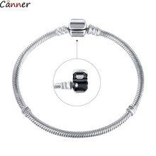 Mode basique serpent chaîne bricolage Fit Pandora Bracelet couleur argent argent basique chaîne Bracelet Bracelet pour les femmes cadeaux B4