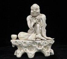 Décoration de mariage chine Dehua porcelaine blanche bouddhisme Arhat Damo Bodhidharma Dharma bouddha Statue