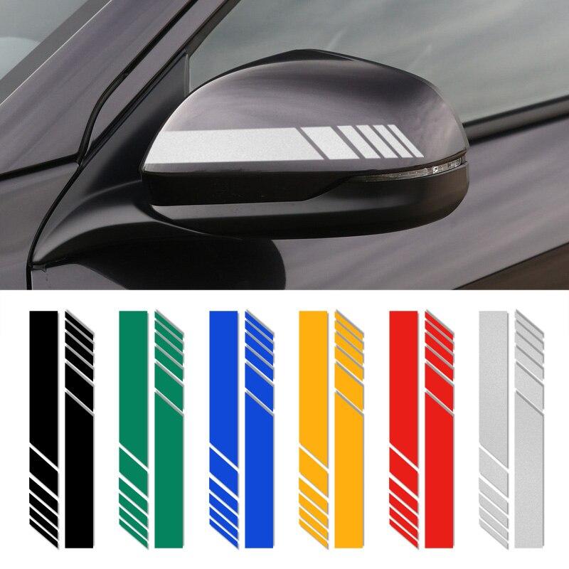 Pegatinas reflectoras de rayas laterales para espejo retrovisor de coche, 2 uds., para Citroën C4 C1 C5 C3 C6 C-ELYSEE VTS, accesorios para coche