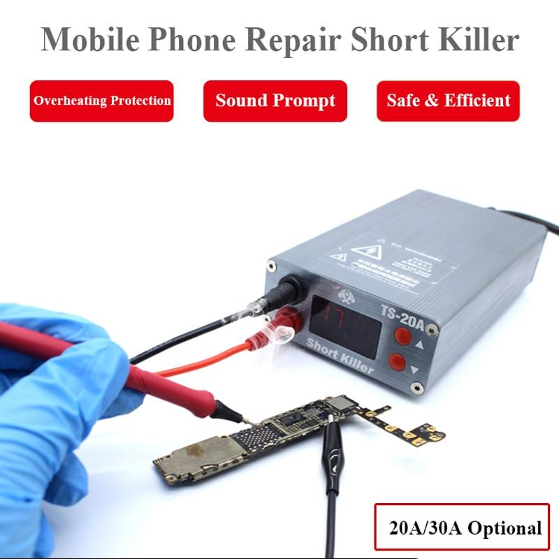 TS-30A TS-20A الهاتف المحمول إصلاح قصيرة القاتل للهاتف المحمول الكمبيوتر اللوحة ماس كهربائى كشف حرق إصلاح أداة