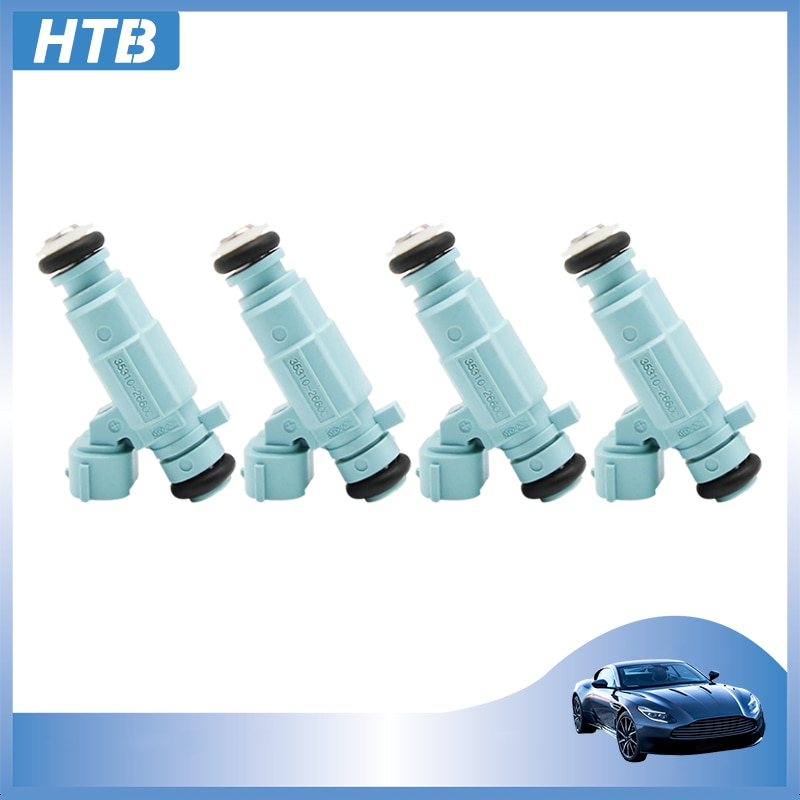 4 x 35310-26600 High Quality Fuel Injector 3531026600 For Hyundai Elantra 2011 14 16 IX25 Venga 10 Solaris Kia Rio 35310 26600
