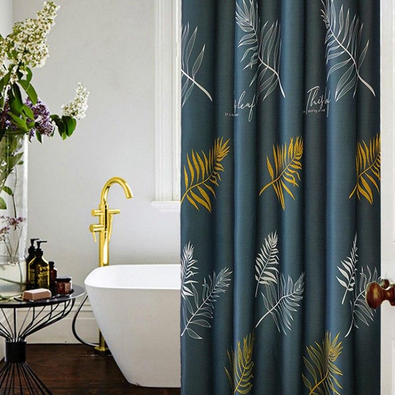 Hooks Thicken Shower Curtain Polyester Waterproof Anti-mildew Bathe Shower Curtain Douche Gordijn Household Products DB60YL