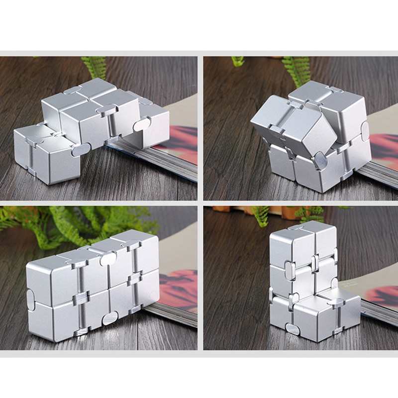 Decompression Toy Advanced Metal Infinite Cube Portable Decompression Adult Children Relax Stress enlarge