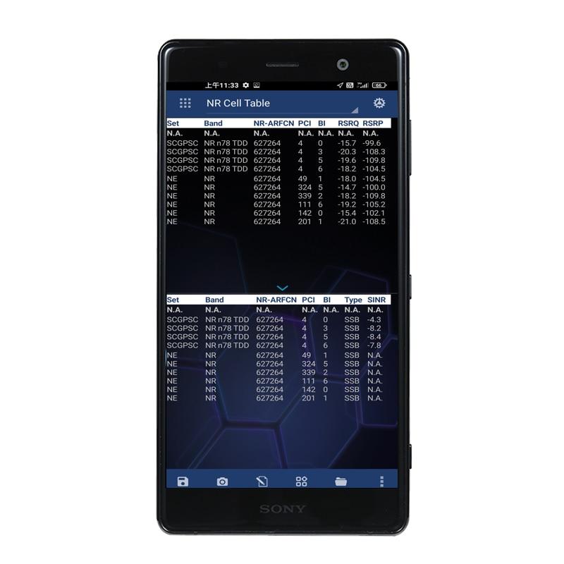 نيمو مفيد نيمو الهاتف XZ2P H8166 محرك اختبار الهاتف دعم GSM HSPA LTE NR القياسات ل نيمو في الهواء الطلق اختبار