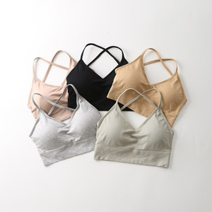 2020 Modal Underwear Woman-Free Steel Ring Bra New Style Japanese-style Seamless Thin Big U Cross-back Bra Bra