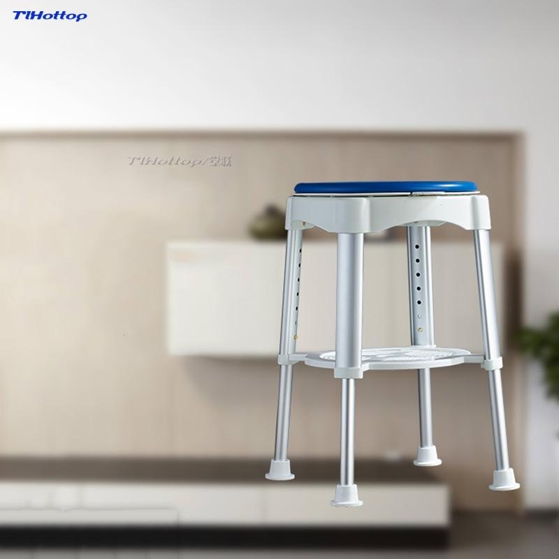 Tlhottop حمام البراز مع مبطن الدورية مقعد جولة حمام البراز مع قابل للتعديل الاستحمام ل المسنين السن أو جرح YJ-2053