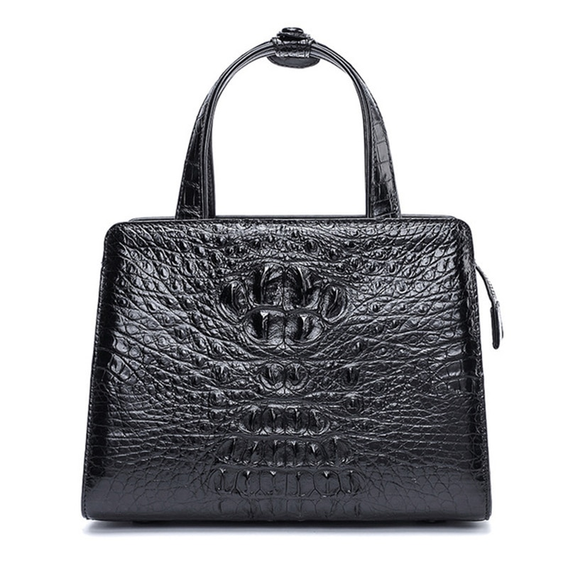 حقيبة يد نسائية من جلد التمساح ، حقيبة كورية بسحاب ، مربعة ، عصرية ، متطابقة مع كل شيء