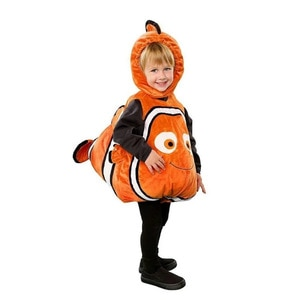 Boys Girls Clownfish Jumpsuit Children Movie Anime Characters Role Play Suit Kids Halloween Cosplay Party Make Dress Up Costume