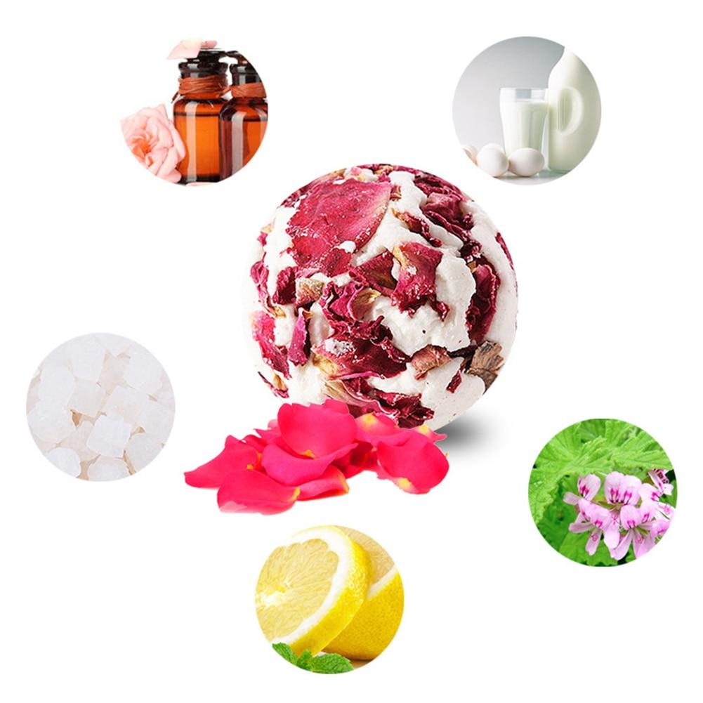 Средство для нежной глубокой чистки и эфирное шарик для ванной ароматное молочко с Успокаивающая соль подарок душ кожи забота, отшелушиван...