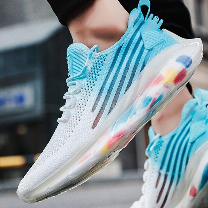Zapatillas transpirables para correr 46 zapatos deportivos ligeros para hombre 45 zapatillas cómodas de talla grande 44 zapatos casuales para caminar a la moda
